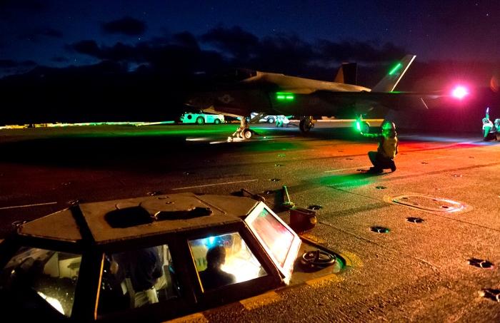 F-35C, night